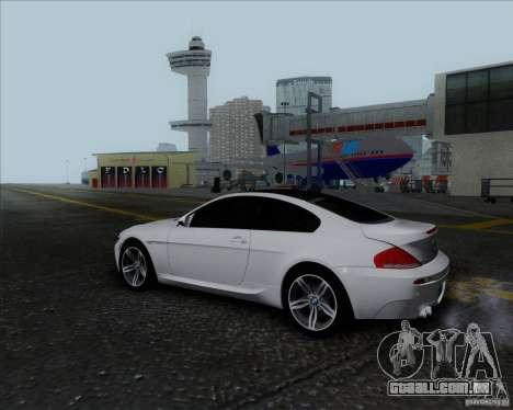 BMW 6 Series M para GTA San Andreas vista interior