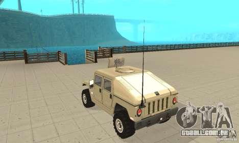 Hummer H1 para GTA San Andreas traseira esquerda vista