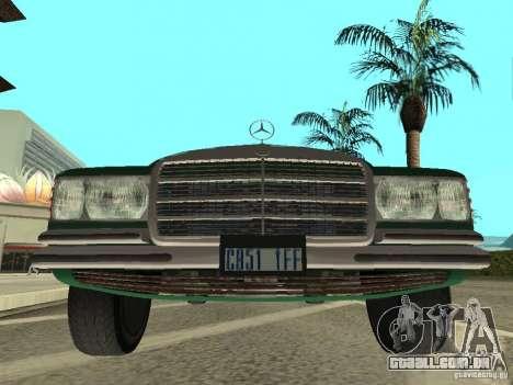 Mercedes - Benz 280SE para GTA San Andreas traseira esquerda vista