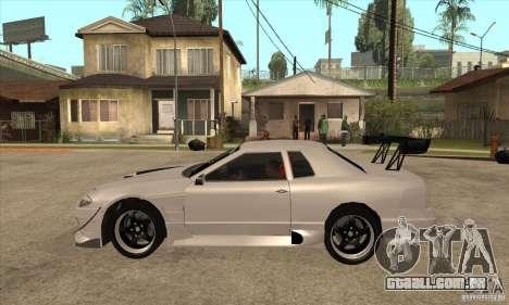 Nissan Silvia S15 + Elegy para GTA San Andreas esquerda vista