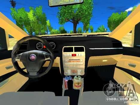 Fiat Linea para GTA 4 vista interior
