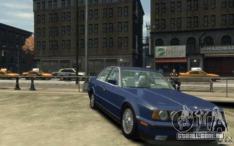 BMW 535i (E34) para GTA 4 vista de volta