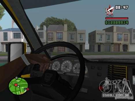 Painel de controle ativo para GTA San Andreas por diante tela
