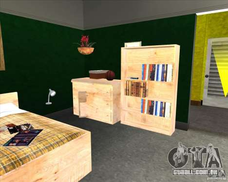 New Interior of CJs House para GTA San Andreas por diante tela