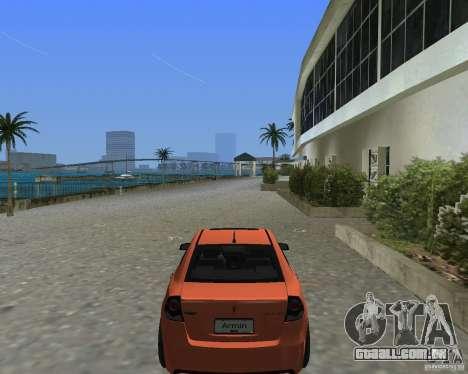 Pontiac G8 GXP para GTA Vice City vista traseira esquerda