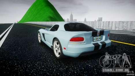 Dodge Viper SRT-10 para GTA 4 traseira esquerda vista