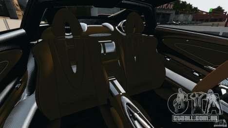 Pagani Huayra 2011 v1.0 [RIV] para GTA 4 vista interior