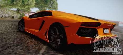 Lamborghini Aventador LP700-4 Final para GTA San Andreas vista inferior