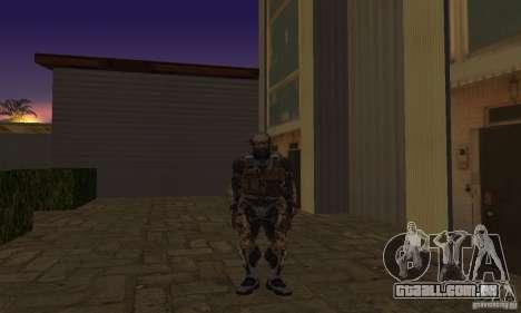 Crysis NanoSuit para GTA San Andreas segunda tela