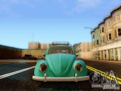 Volkswagen Beetle 1300 para GTA San Andreas vista traseira