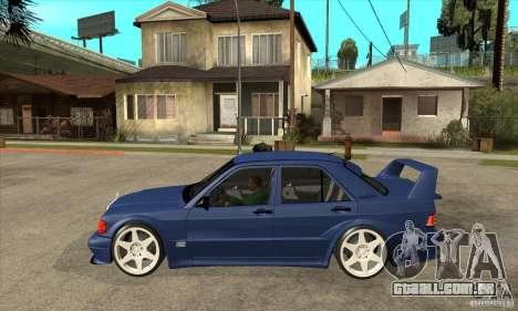Mercedes-Benz w201 190 2.5-16 Evolution II para GTA San Andreas esquerda vista
