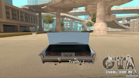 Music car v4 para GTA San Andreas terceira tela