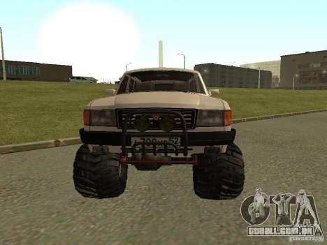Volga 31022 gás 4 x 4 para GTA San Andreas esquerda vista