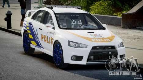 Mitsubishi Evolution X Police Car [ELS] para GTA 4