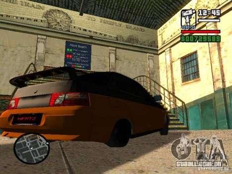VAZ 2110 HERTZ-estilo (D.A.G) laranja para GTA San Andreas traseira esquerda vista
