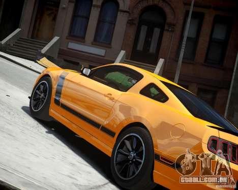 Ford Mustang Boss para GTA 4 vista direita