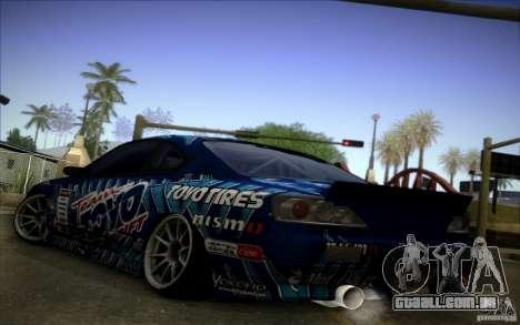 Nissa Silvia S15 Toyo para GTA San Andreas vista direita