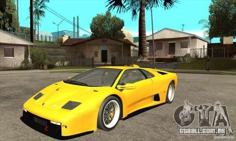Lamborghini Diablo GT-R 1999 para GTA San Andreas