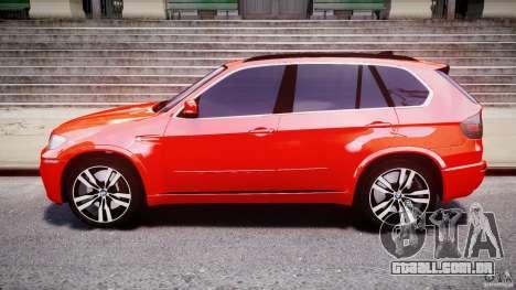 BMW X5M Chrome para GTA 4 vista lateral