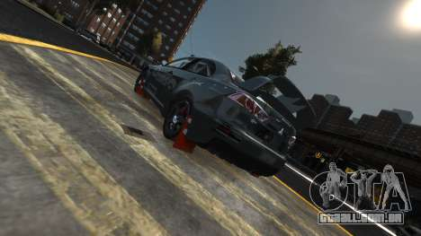 Mitsubishi Lancer Evolution para GTA 4 vista de volta