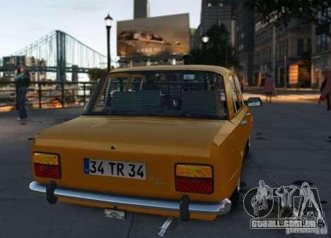 Fiat 124 para GTA 4 vista direita