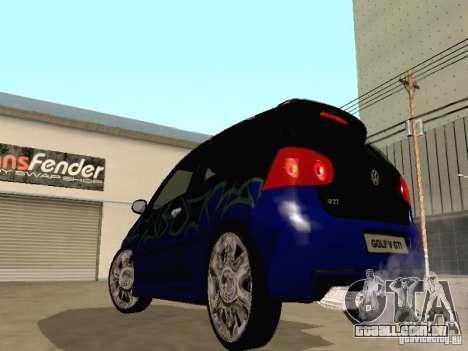 Volkswagen Golf V GTI para GTA San Andreas vista interior