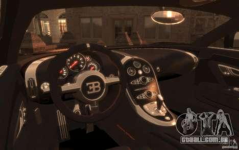 Bugatti Veyron Super Sport 2010 para GTA 4 traseira esquerda vista