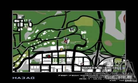 Guerra aérea para GTA San Andreas sexta tela