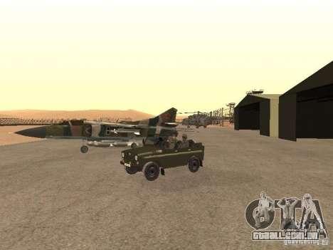 Mikoyan-Gurevich Mig-23 para GTA San Andreas vista traseira