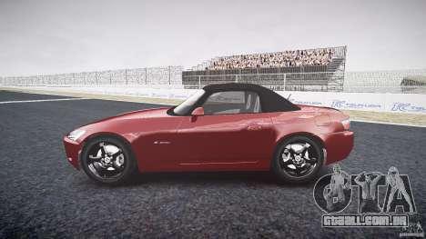 Honda S2000 2002 v2 para recozimento para GTA 4 vista de volta