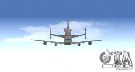 Boeing 747-100 Shuttle Carrier Aircraft para GTA San Andreas vista interior