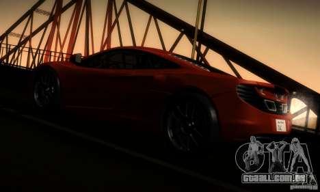 McLaren MP4-12C TT Black Revel para GTA San Andreas vista traseira