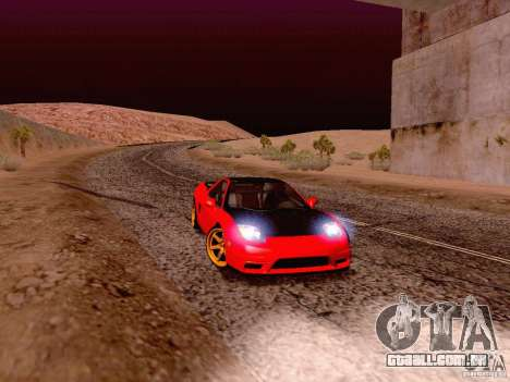 Acura NSX Stance Works para GTA San Andreas esquerda vista