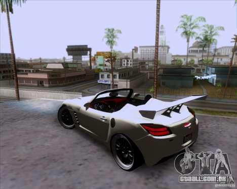 Saturn Sky Roadster para GTA San Andreas vista superior