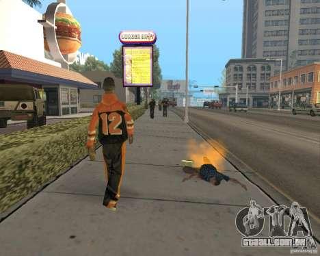 Munição incendiária para GTA San Andreas por diante tela