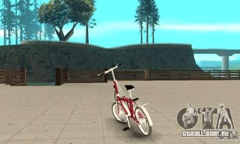 Child Bicycle para GTA San Andreas traseira esquerda vista