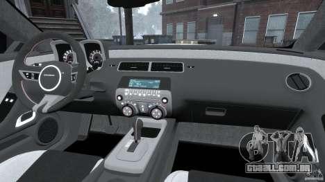 Chevrolet Camaro v1.0 para GTA 4 vista superior