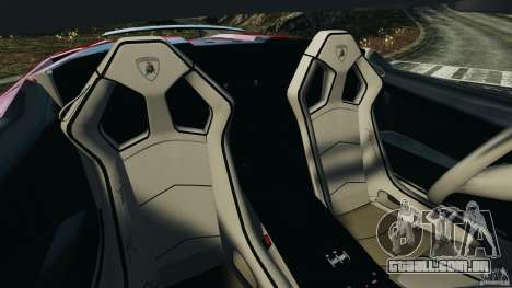 Lamborghini Gallardo LP570-4 Spyder Performante para GTA 4 vista interior