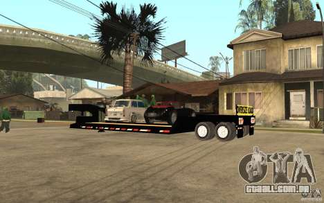 Trailer lowboy transport para GTA San Andreas esquerda vista