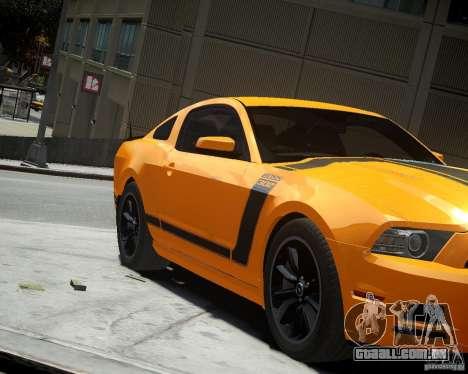 Ford Mustang Boss para GTA 4 esquerda vista