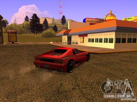 New Cheetah para GTA San Andreas esquerda vista