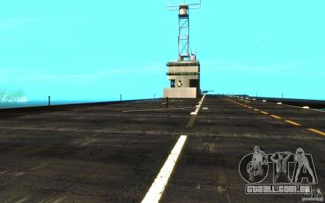 New Aircraft carrier para GTA San Andreas vista interior