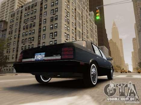 Oldsmobile Cutlass Ciera 1993 para GTA 4 vista inferior