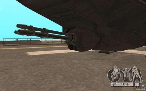 MQ Drone from BO2 para GTA San Andreas vista traseira