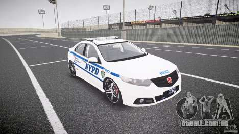 Honda Accord Type R NYPD (City Patrol 1090) ELS para GTA 4 vista de volta