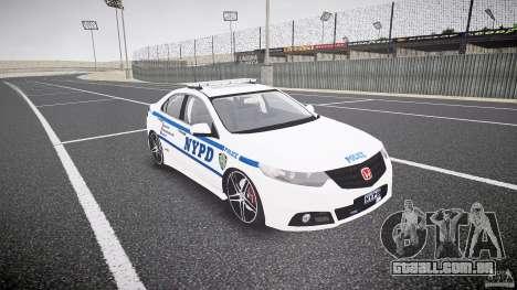 Honda Accord Type R NYPD (City Patrol 1090) ELS para GTA 4 vista de volta