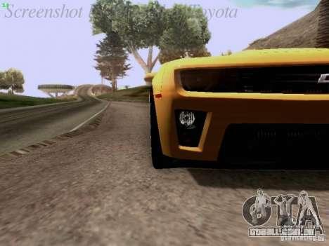 Chevrolet Camaro ZL1 2012 para GTA San Andreas vista traseira