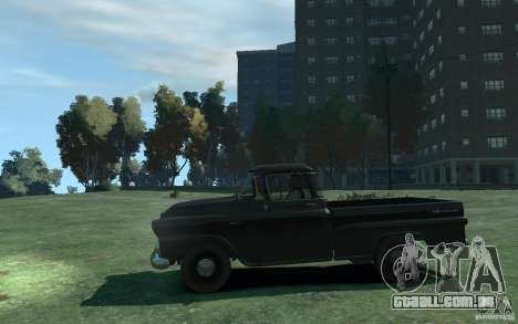 Chevrolet Apache Fleetside 1958 para GTA 4 esquerda vista