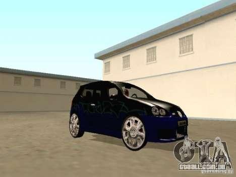 Volkswagen Golf V GTI para GTA San Andreas vista traseira