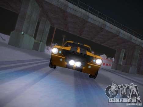 Shelby GT500 Eleanor para GTA San Andreas vista superior